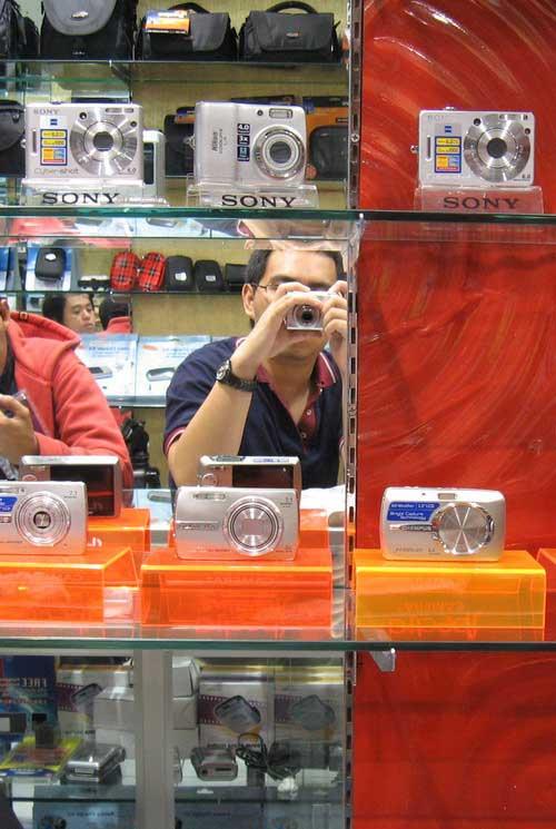 Testing kamera